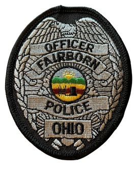 FAIRBORN OH POLICE BADGE PATCH FREE SHIPPING!
