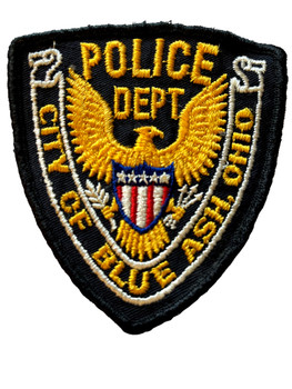 BLUE ASK OH POLICE BADGE PATCH FREE SHIPPING!