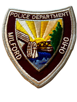 MILFORD OH POLICE BADGE PATCH FREE SHIPPING!
