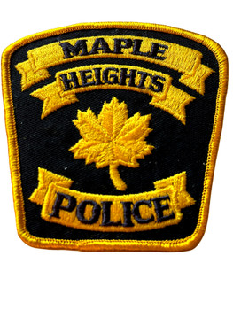 MAPLE HEIGHTS OH POLICE BADGE PATCH FREE SHIPPING!