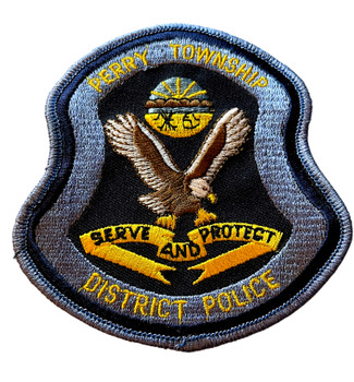 PERRY TWP OH POLICE BADGE PATCH FREE SHIPPING!