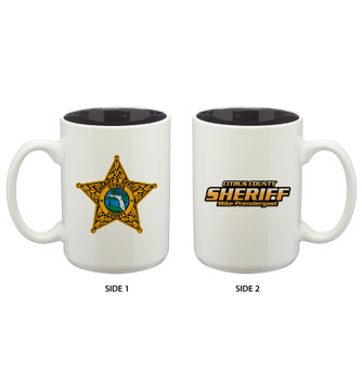 15 oz. Glossy Two-Tone Custom Ceramic Mug
