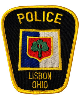 LISBON  OH POLICE BADGE PATCH FREE SHIPPING!