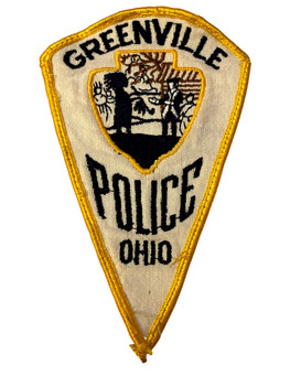 GREENVILLE  OH POLICE BADGE PATCH FREE SHIPPING!