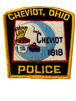 CHEVIOT OH POLICE BADGE PATCH FREE SHIPPING!