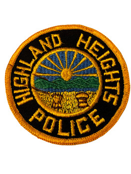 HIGHLAND HEIGHTS  OH POLICE BADGE PATCH FREE SHIPPING!