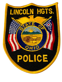 LINCOLN HEIGHTS OH POLICE BADGE PATCH FREE SHIPPING!