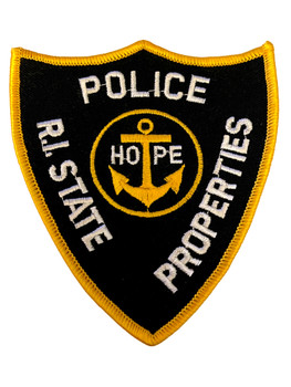 R.I. STATE PROPERTIES POLICE RI PATCH