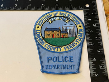 MYERSTOWN POLICE PA PATCH