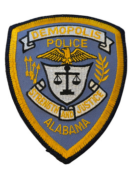 DEMOPOLIS  POLICE AL LIGHT BLUE PATCH
