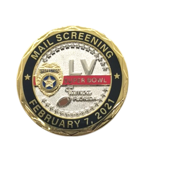 POSTAL SERVICE SUPER BOWL 2021 COIN