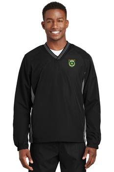 NASSAU Sport-Tek® Tipped V-Neck Raglan Wind Shirt