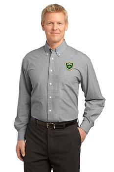 NASSAU Port Authority® Plaid Pattern Easy Care Shirt