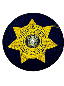 HARRIS COUNTY SHERIFF TX STAR PATCH GOLD