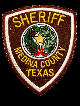 MEDINA COUNTY SHERIFF TX LASER CUT PATCH