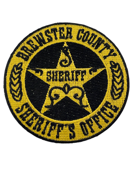 BREWSTER COUNTY SHERIFF TX LASER CUT SEAL PATCH