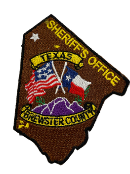 BREWSTER COUNTY SHERIFF TX LASER CUT PATCH