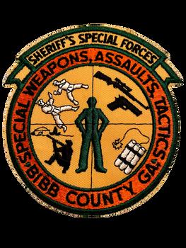 BIBB COUNTY SHERIFF GA SWAT PATCH