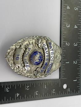 CAUSEWAY POLICE LA PATROLMAN BADGE RARE