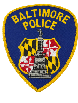 BALTIMORE POLICE MD PATCH
