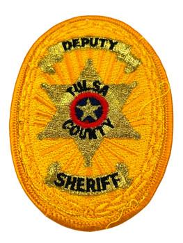 TULSA  COUNTY SHERIFF OK DEPUTY BADGE PATCH