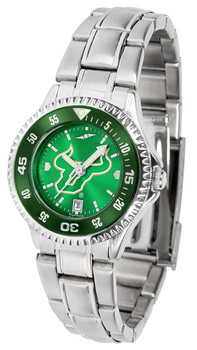 South Florida Bulls - Competitor Ladies' Steel AnoChrome  -  Color Bezel Watch