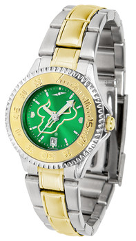 South Florida Bulls - Competitor Ladies Two - Tone AnoChrome Watch