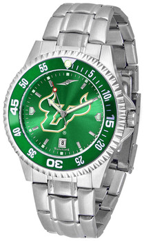 Men's South Florida Bulls - Competitor Steel AnoChrome  -  Color Bezel Watch