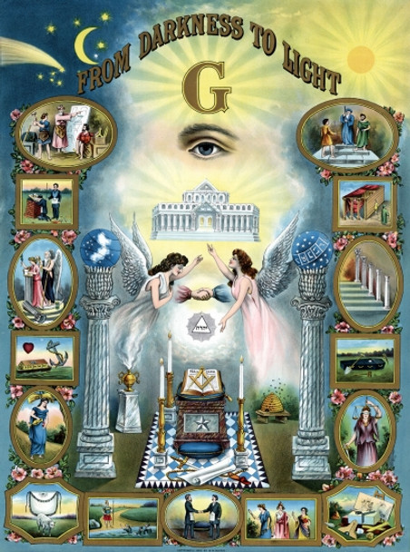 MASONIC From-Darkness-to-Light Poster