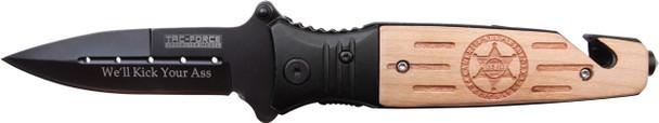 "SHERIFF""s Wooden Survival Knife"