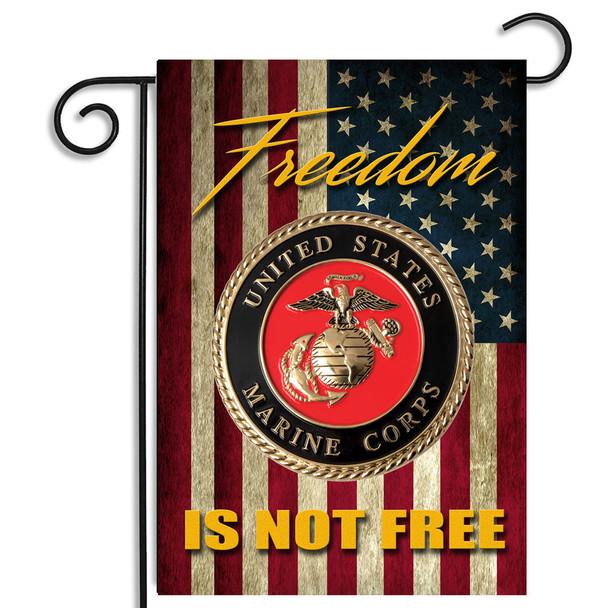 Marines Freedom Isn't Free Garden Flag