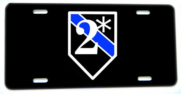 Thin Blue Line K9 Canine Two Ass To Risk Aluminum License plate