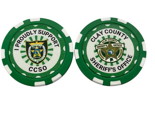 CLAY SHERIFF AGENCY POKER CHIP