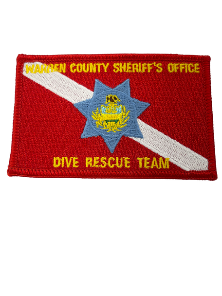 WARREN COUNTY SHERIFF DIVE RESCUE TEAM NY PATCH