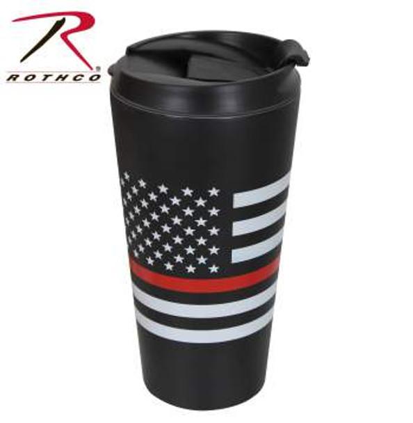 Thin Red Line Flag Travel Mug