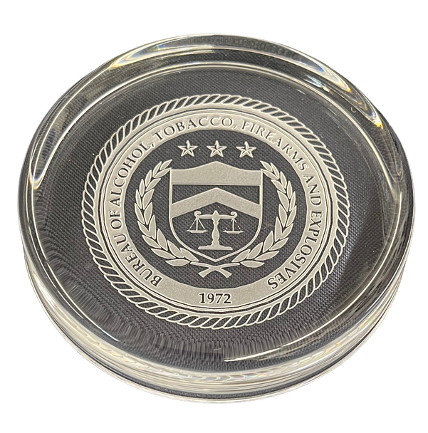 BUREAU OF ALCOHOL TOBACCO FIREARMS ATF PAPERWEIGHT