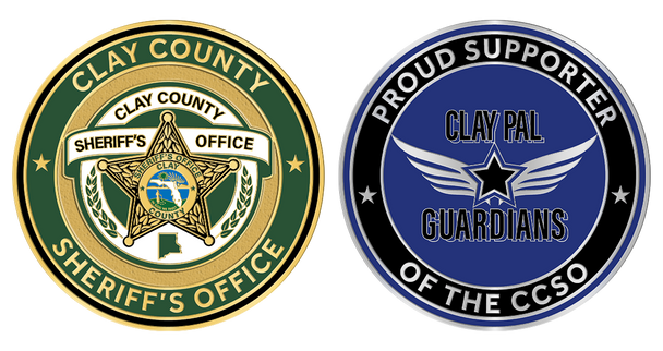 """Clay Sheriff PAL 2"""" Coin"""