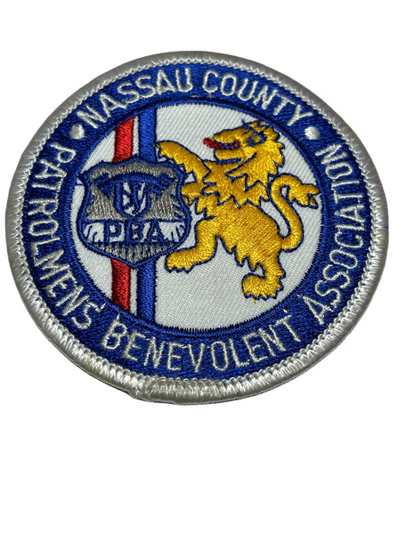 NASSAU COUNTY PATROLMENS' BENEVOLENT ASSN. NY SMALL PATCH RARE