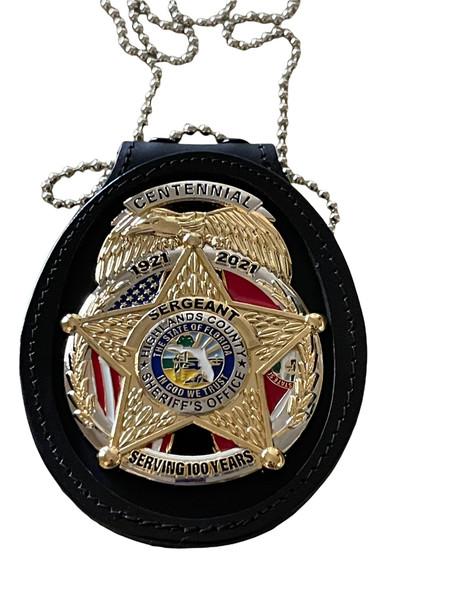 Highlands County Sheriff Centennial - Badge Clip