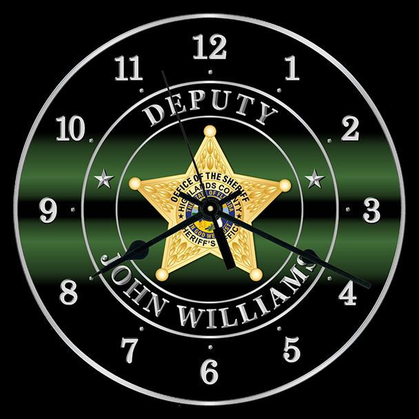 "Highlands Sheriff 10"" CLOCK"