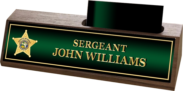 Highlands Sheriff WALNUT BUSINESS CARD HOLDER