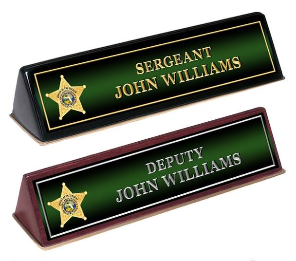 Highlands Sheriff PIANO FINISH NAME PLATE