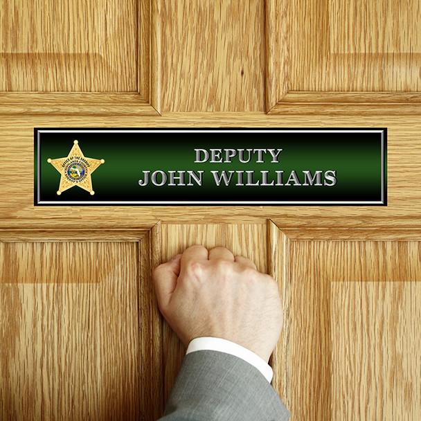 Highlands Sheriff DOOR NAME PLATE