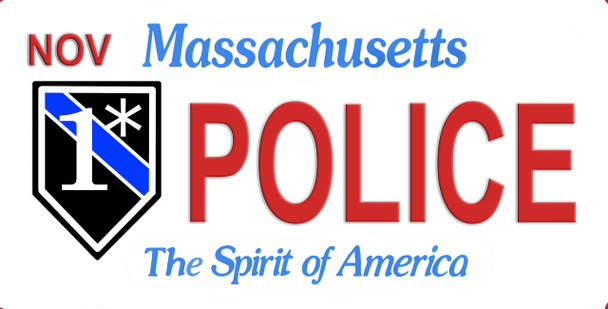Massachusetts One Ass to Risk Police License Plate