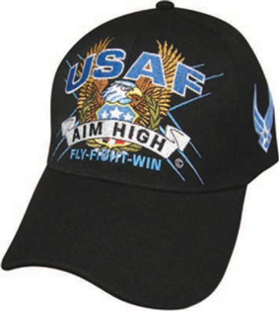 Air Force Military Official Hat Great Logo SLOGAN