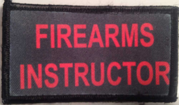 Firearms Instructor Velcro Patch - PACKAGE OF 4