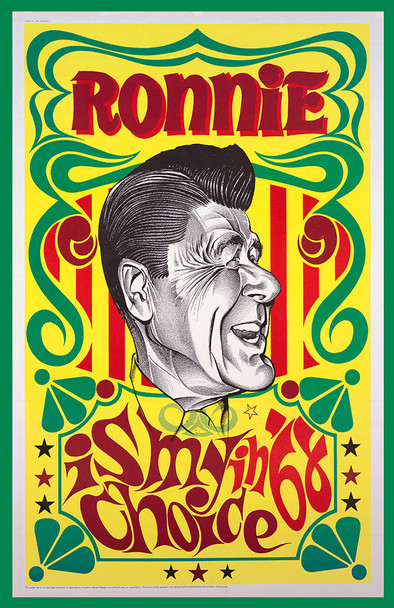 Vintage Polictical Ronnie Is My Choice in 68 Poster