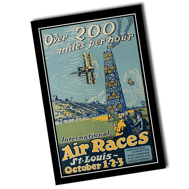 "Vintage International Air Races 8"" x 12"" Sign"