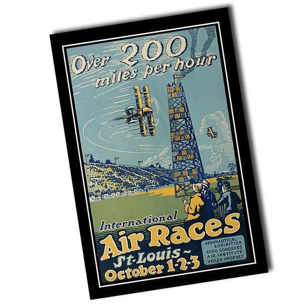 "Vintage International Air Races 8"" x 12"" Sign"