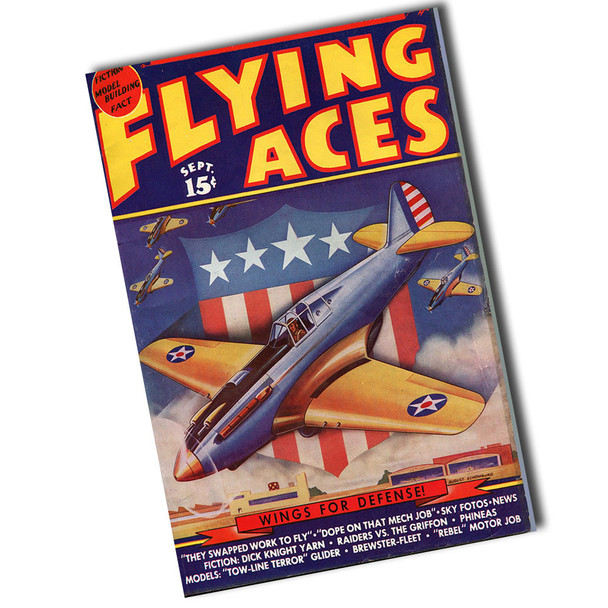 "Vintage Flying Aces Wings For Defense 12"" x 8"" Sign"